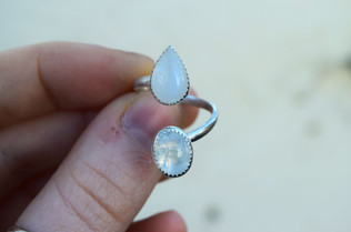 Twisted Moonstone Ring