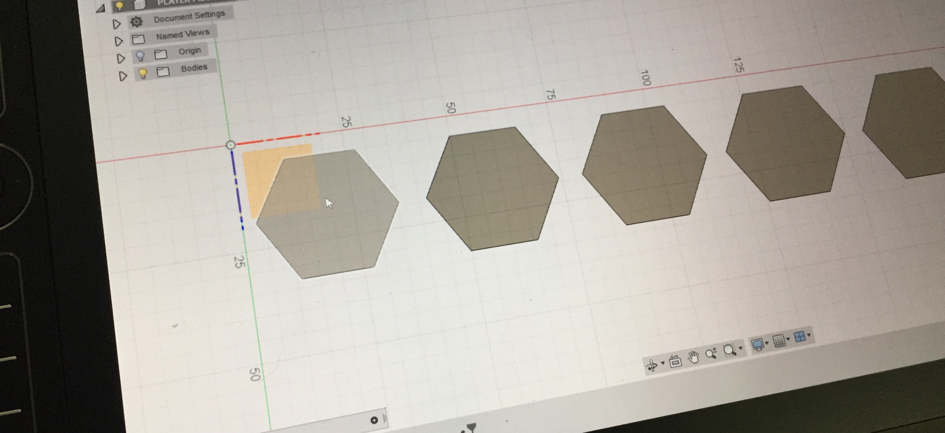 A base for each concept is created and laid out in Fusion360.