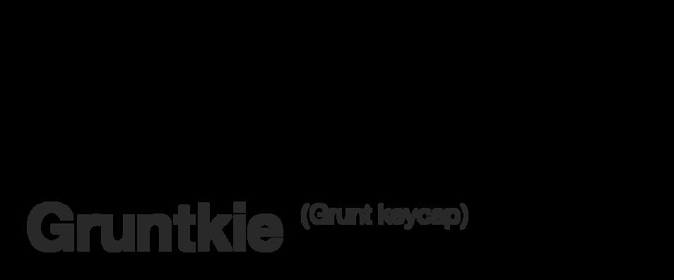 Gruntkie Grunt Keycap Banner Tito Nunes Design
