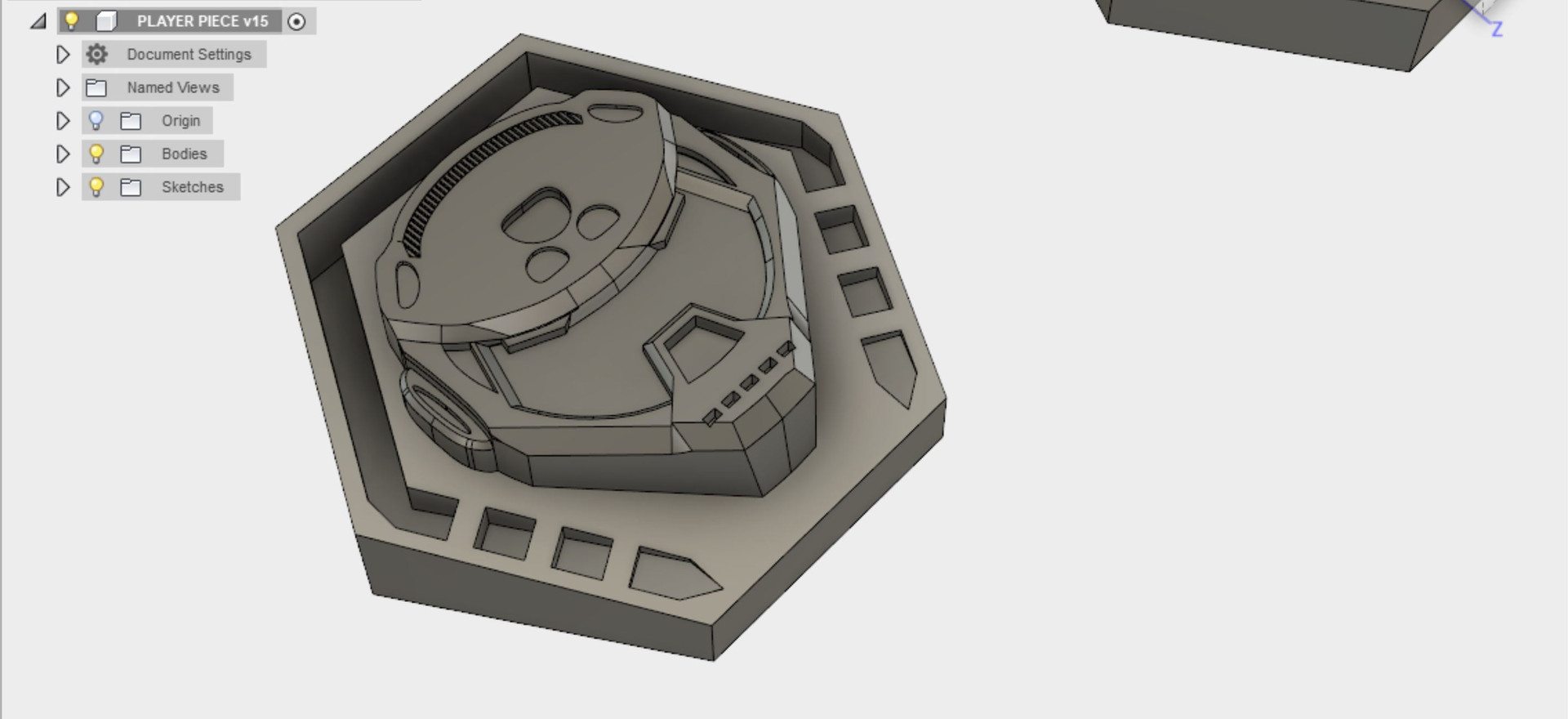 After the final design was selected, it was then further processed with more details with the intention for printing on SLA.