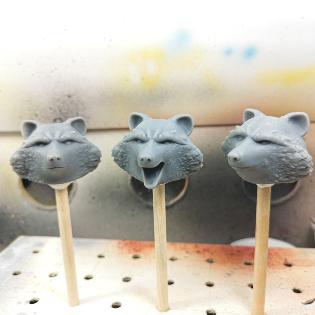 Sanded models ready for primer and paint