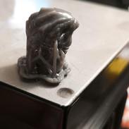 3D design freshly removed from the SLA printer