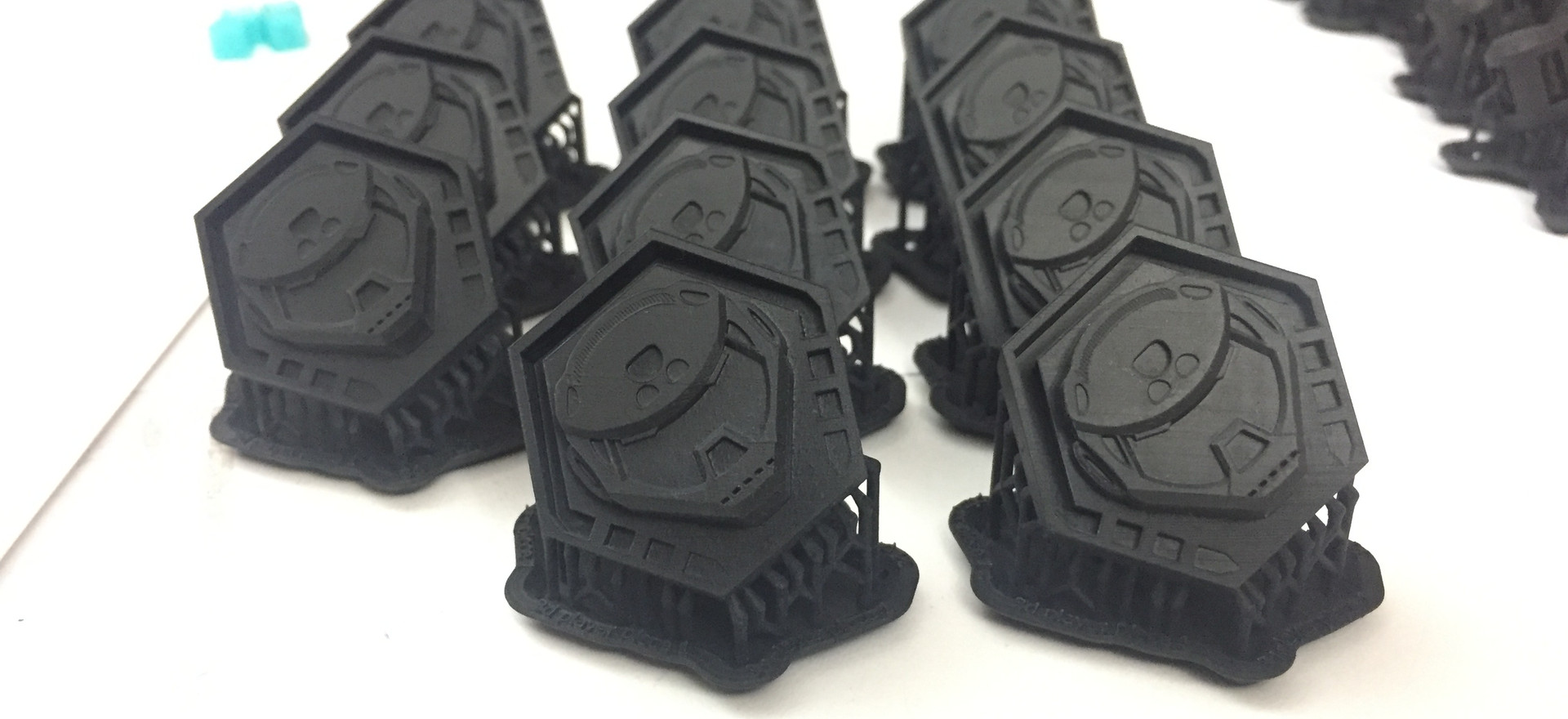 The first batch printed on the SLA.
