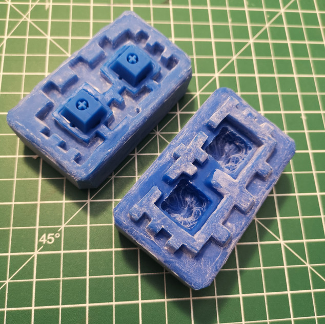 Silicone mold of model