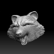 Final sculpt of the angry pose