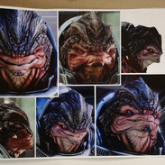 I gathered multiple angles of Grunt images for reference.