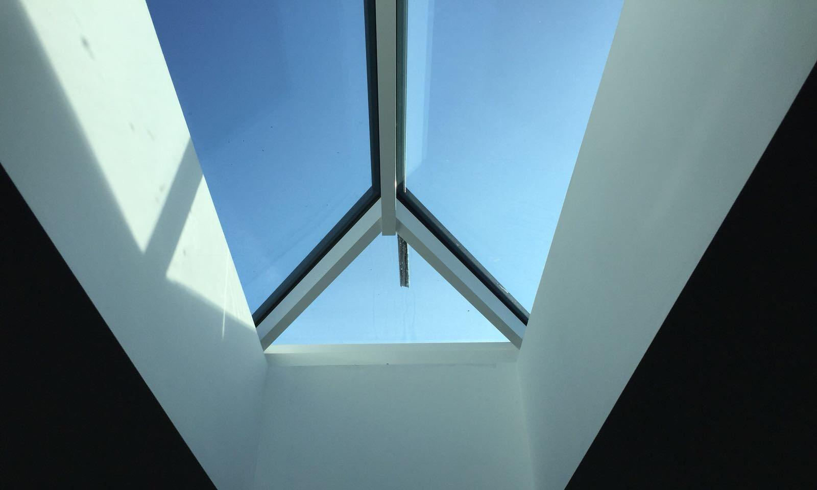 plastered sky light window