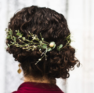 Eucalyptus hair piece