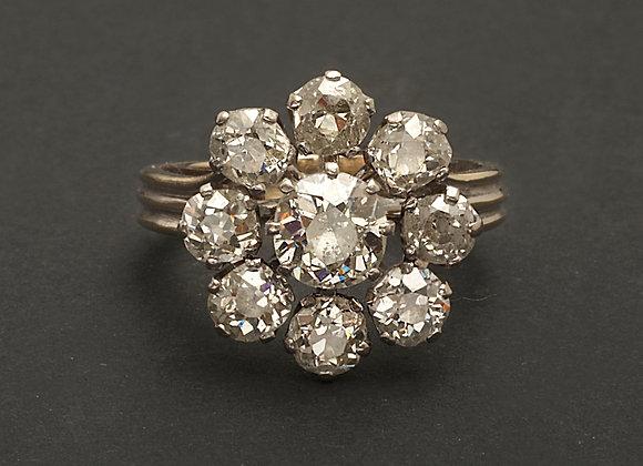 """Bague en platine, or et diamants """"Marguerite merveilleuse"""""""