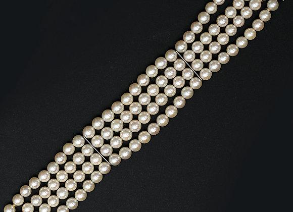 """Bracelet manchette perles de culture or gris """"Nacres Sublimes"""""""