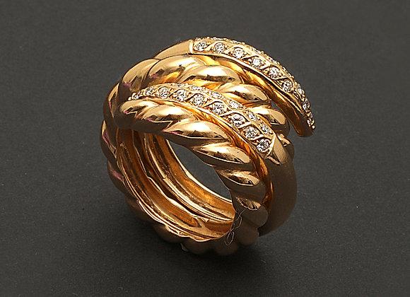 """Bagues en or jaune et diamants """"Séduisante ingénue"""""""