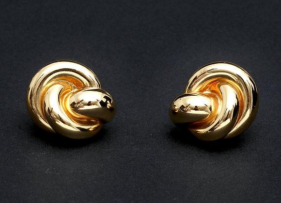 """Boucles d'oreilles vintage or jaune """"Attache-moi"""""""