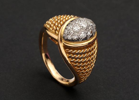 """Bague or jaune et diamants """"La Sultane"""""""