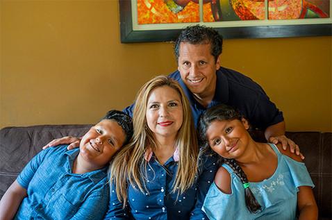 Elizabeth Guzman and her family