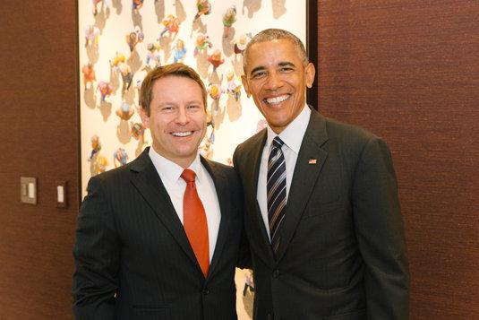 Ross with Barack Obama