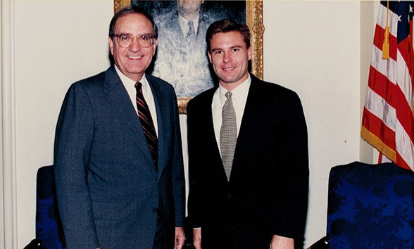 Ross with George Mitchell