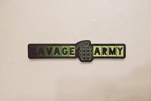 Savage Army Logo Sticker