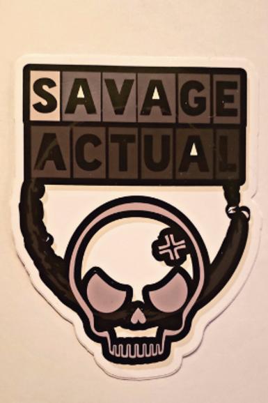 Savage Actual Skull Sticker