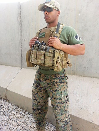 Marine wears Combat Applications belt in Afghanistan.