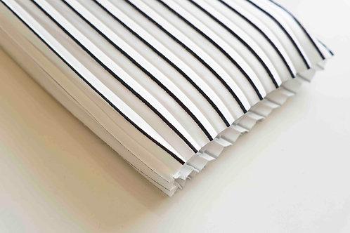 Coupon tissu plissé Lotte Martens