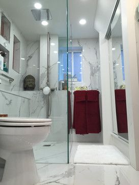 The white bathroom