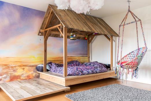 Barnboard bed frame