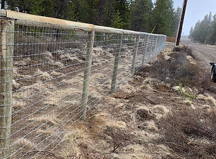 Post and Cap Deer Fencing in La Pine OR