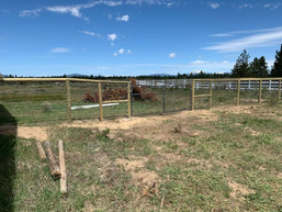 post and cap fence installation with gat