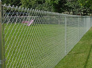 chain link fence in la pine