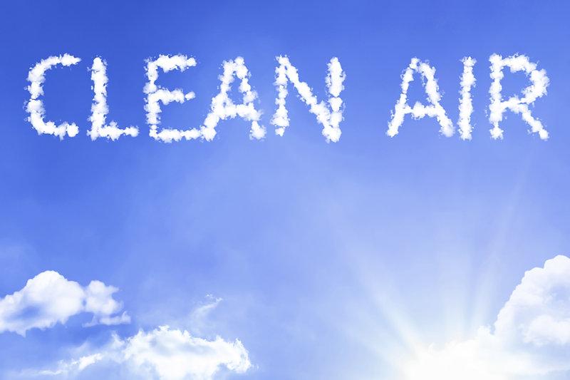 Clean Air cloud word with a blue sky.jpg
