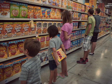 Choosing a major in the cereal aisle.