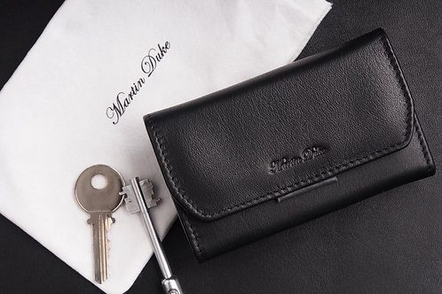 雙色真皮鑰匙包