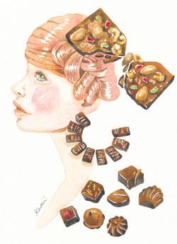女性ショコラ