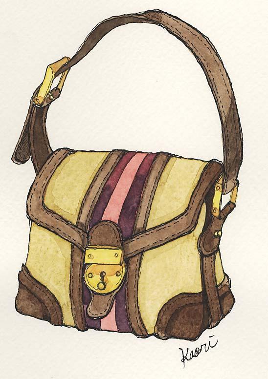ベージュのトートバッグ