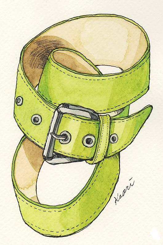グリーンのベルト