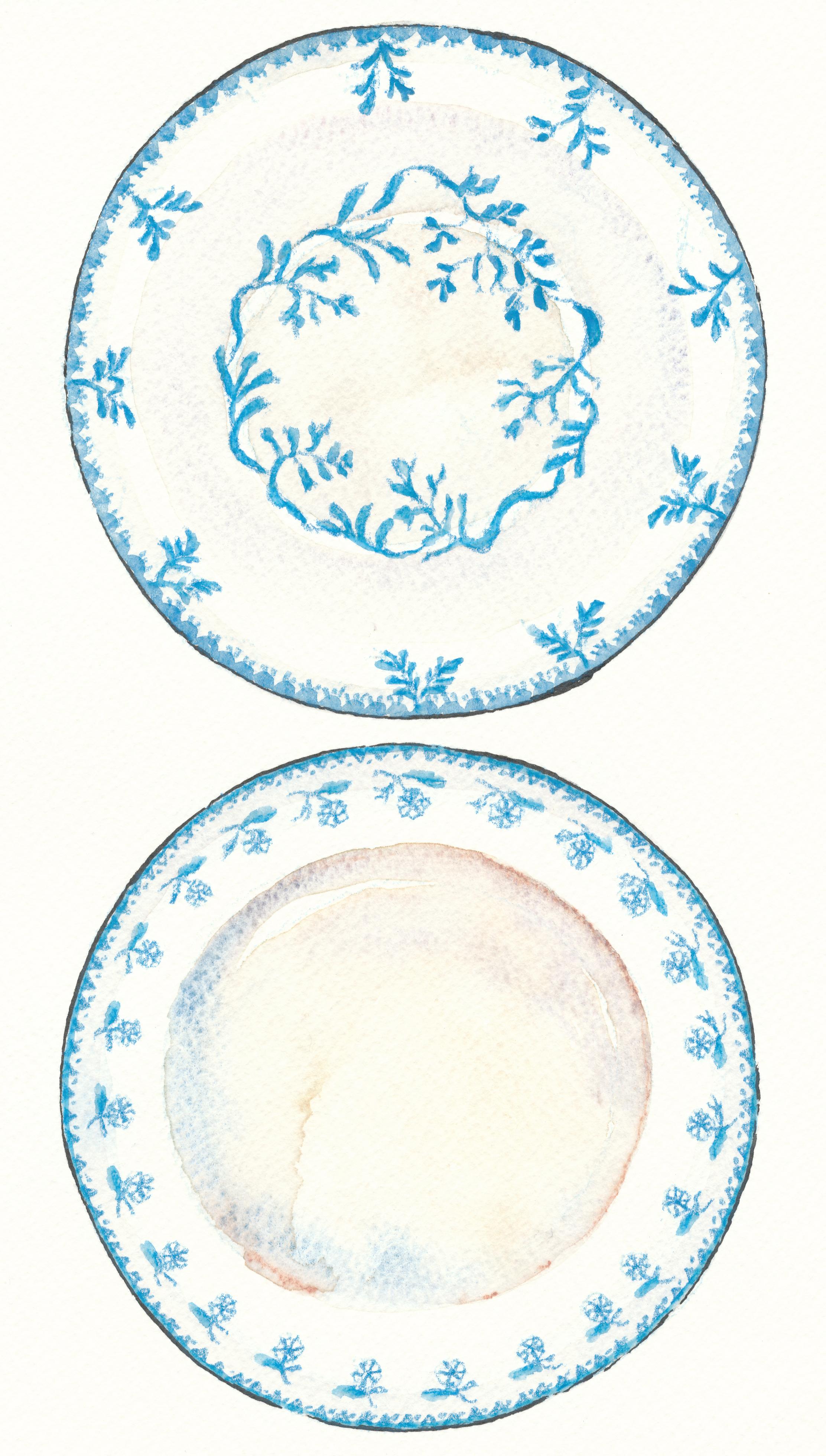 ブルー絵皿