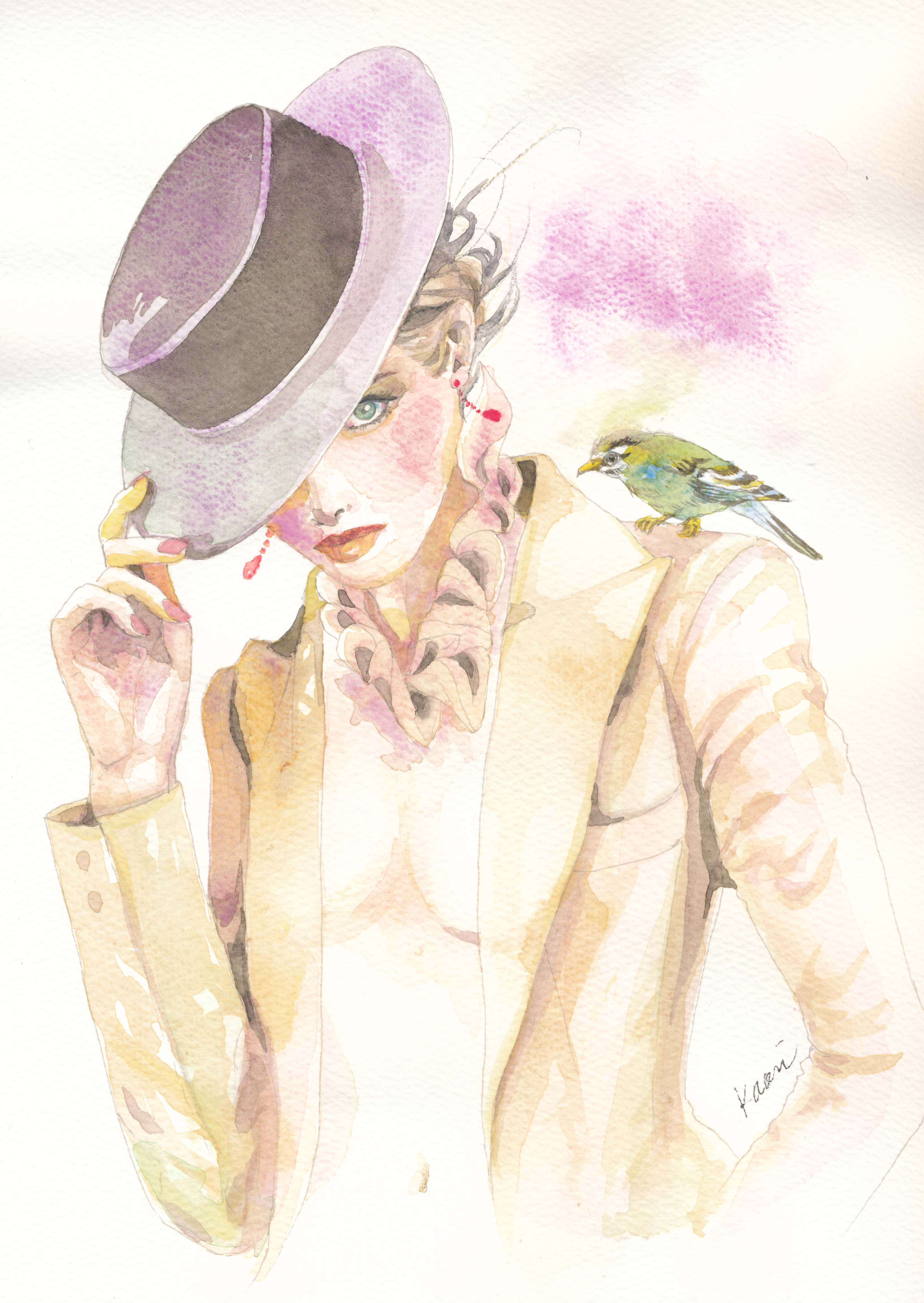 帽子とジャケット