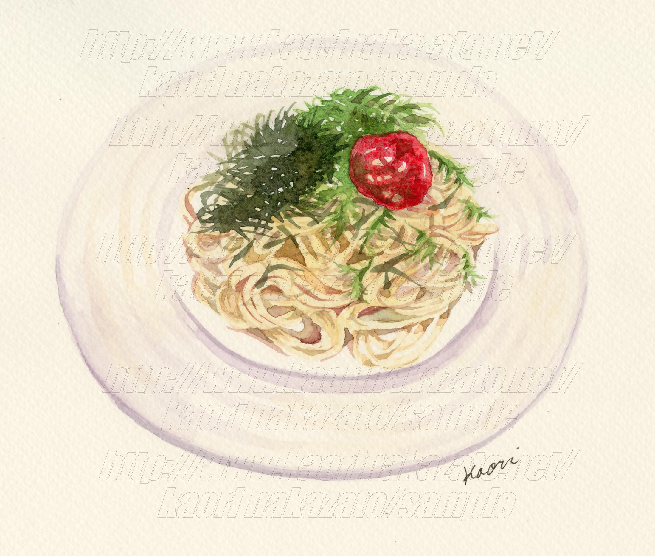 ジャコと水菜の和風パスタ