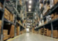 Warehouse interior. logistics and freigh