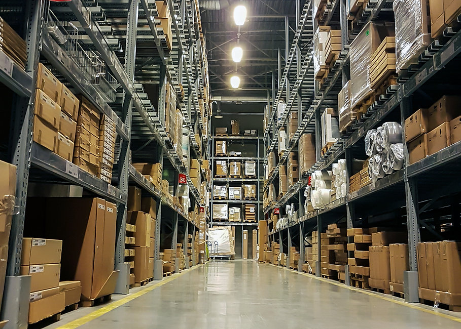 Warehouse interior. logistics and freigh