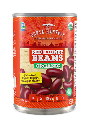 Organic Canned Red Kidney Beans, reduced sodium, BPA-Free lining
