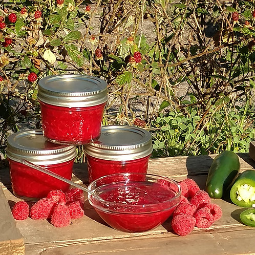 Raspberry-Jalapeno Jam-No Added Sugar