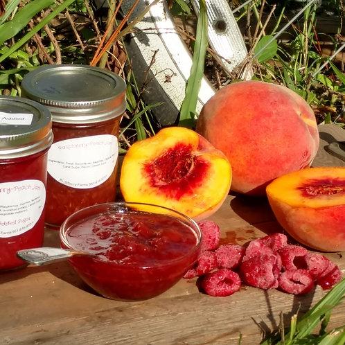 No Sugar Added Raspberry-Peach Jam