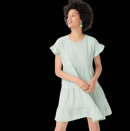 jcrew travel dress in green