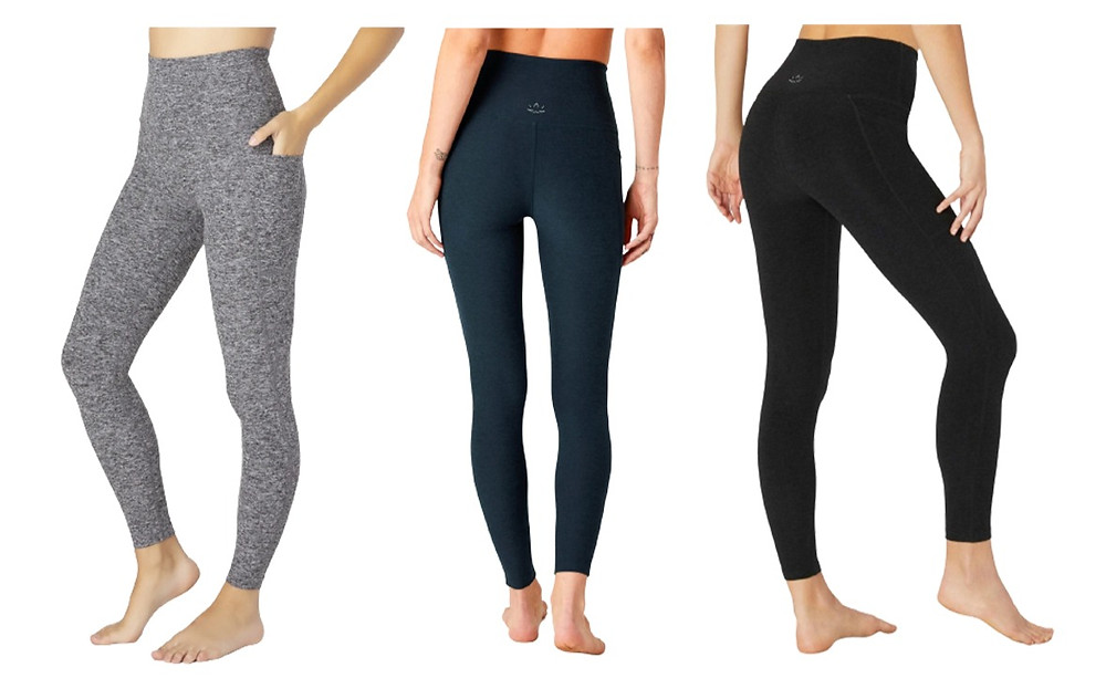 beyond yoga leggings on three female bodies