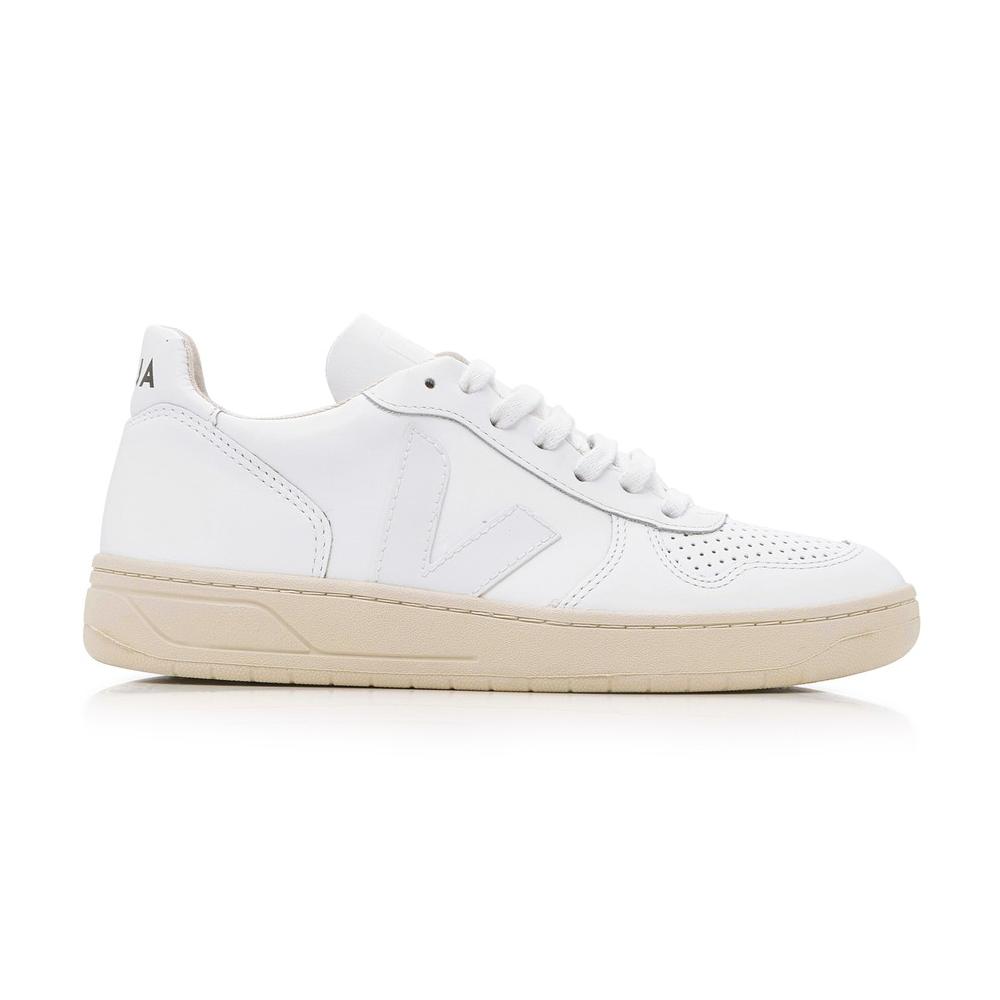 veja v-10 lace up sneakers in white