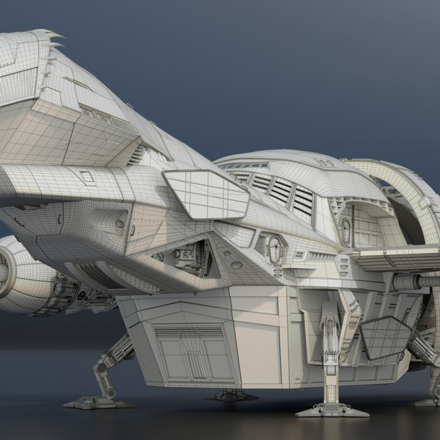 """Firefly Class Transport """"Tranquility"""" with wire frame"""