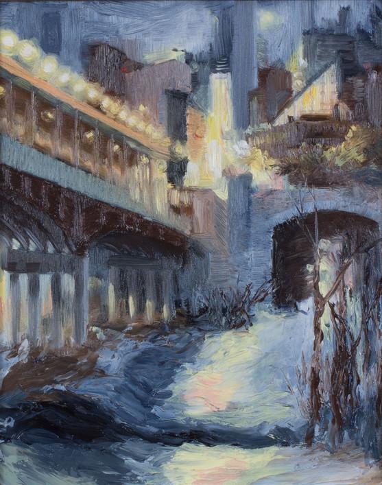Bridge at twilight - sold