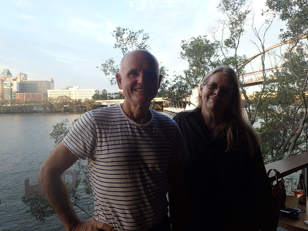 Kevin and Margaret at South Bank in Brisbane