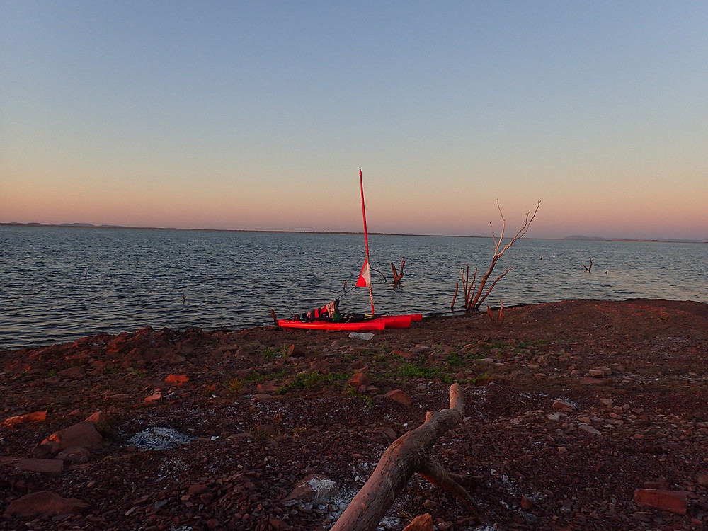 Remote Island on Lake Argyle with our Hobie Tandum Island
